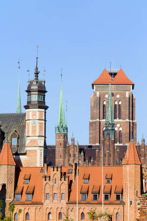 gdansk: Old Town historic architecture in the city of Gdansk (Danzig), Poland