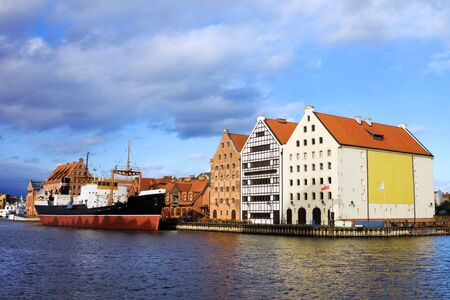 Old granaries at the Motlawa river in Gdansk (Danzig) waterfront, Poland Stock Photo - 11080606