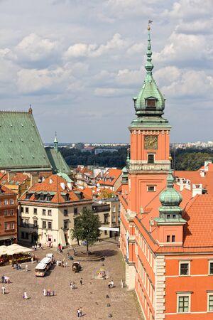 stare miasto: Old Town (Polish: Stare Miasto, Starowka) square with Royal Castle (Polish: Zamek Krolewski) in Warsaw, Poland