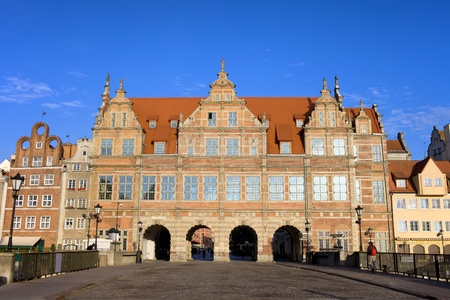 gdansk: Renaissance Green Gate (Polish: Zielona Brama) in the city of Gdansk, Poland