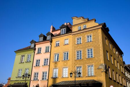 Scenic apartment houses in the Old Town (Polish: Stare Miasto, Starowka) in Warsaw, Poland Stock Photo - 11305122