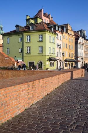 stare miasto: Historic architecture of the Old Town (Polish: Stare Miasto, Starowka) in Warsaw, Poland