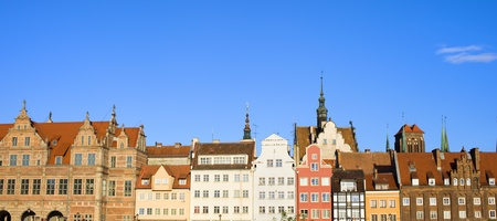 City of Gdansk panorama with the Old Town skyline historic architecture in Poland Stock Photo - 12611632