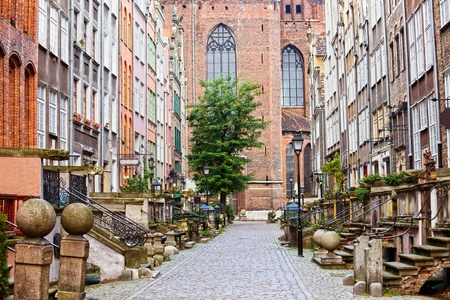 gdansk: Picturesque Mariacka Street in the Old Town of Gdansk, Poland Stock Photo