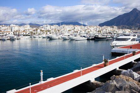 Puerto Banus marina on Costa del Sol, near Marbella in southern Spain, Andalusia region, Malaga province. photo