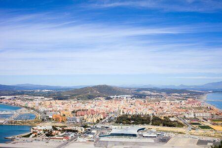 cadiz: La Linea de la Concepcion townscape in Spain, view from above, southern Andalusia region, Cadiz province. Stock Photo