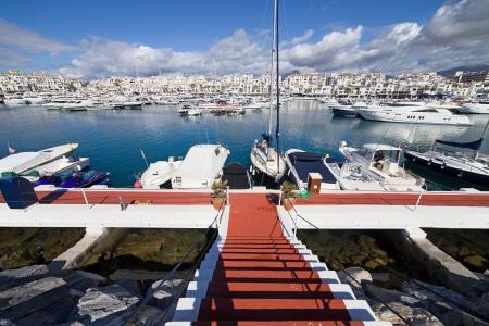 Marina in Puerto Banus near Marbella on Costa del Sol, Andalucia, southern Spain. photo