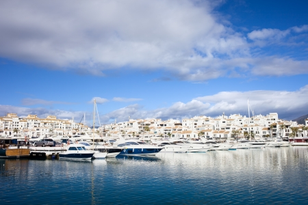 andalucia: Holiday resort of Puerto Banus on Costa del Sol in Spain, southern Andalucia region, Malaga province. Stock Photo