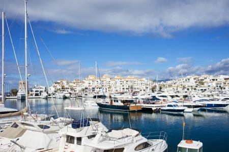 costa del sol: Puerto Banus holiday resort marina on Costa del Sol in Spain, southern Andalusia region, Malaga province.