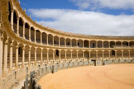 spanish culture: Bullring in Ronda, opened in 1785, one of the oldest and most famous bullfighting arena in Spain.