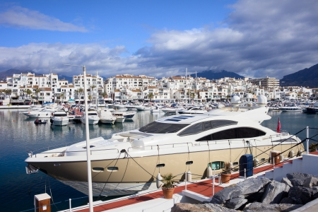 Luxury yachts at Puerto Banus marina on Costa del Sol, southern Andalucia, Spain. Stock Photo - 14148217