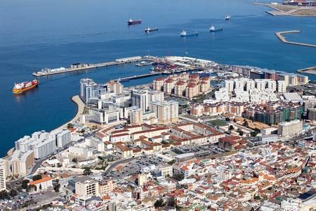 iberian: Gibilterra paesaggio urbano nella parte meridionale della Penisola Iberica. Archivio Fotografico