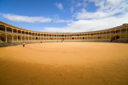 toros: Bullring in Ronda, opened in 1785, one of the oldest and most famous bullfighting arena in Spain.