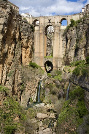 New Bridge (Spanish: Puente Nuevo) historic landmark and main tourist attraction from 18th century in the town of Ronda, southern Andalusia, Spain. photo
