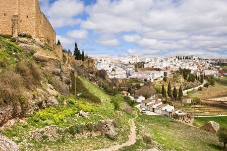 Scenic Andalusia countryside around White Town (Pueblo Blanco) of Ronda in southern Spain, Malaga province. photo