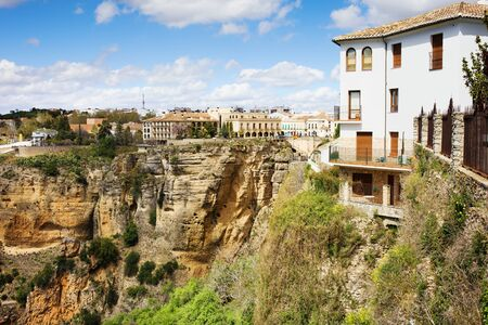Ronda town on the high cliff  in Andalusia region of Spain, Malaga province  photo