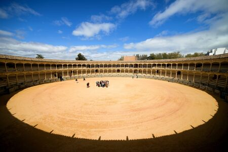 toros: Famed bullring in Ronda, opened in 1785, one of the oldest and most prestigious bullfighting arena in Spain