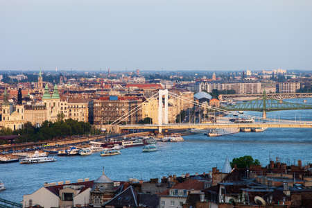 Cityscape of Budapest city in Hungary, river view at sunset. Stock Photo - 16808470