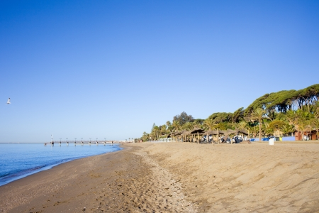Beach on Costa del Sol in Marbella, Spain, Malaga province. photo