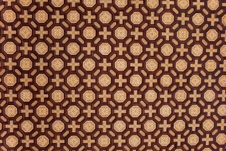 espana: Traditional background design with cross and octagon shapes on Plaza de Espana corridor ceiling, Spain. Stock Photo