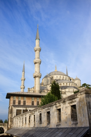 Old City of Istanbul in Turkey historic architecture, minarets and domes of the Sultan Ahmed Mosque (Blue Mosque). Stock Photo - 18464271