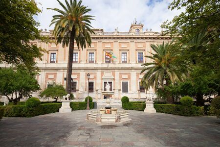 archive site: Renaissance style General Archive of the Indies in Seville, Spain, Andalusia region. Editorial