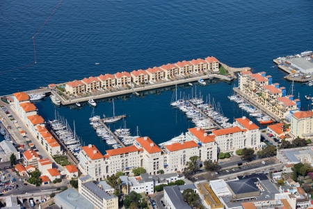 City of Gibraltar, marina and new apartment buildings. photo