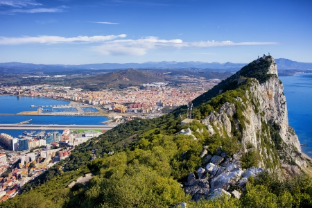 iberian: Rock of Gibraltar in southern part of Iberian Peninsula.