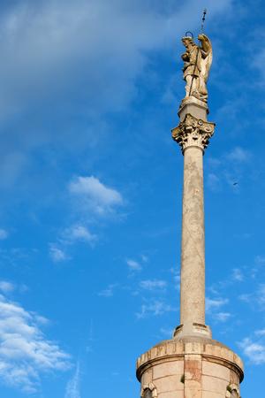 san rafael: Triumph of Saint Rafael (Spanish:Triunfo de San Rafael) monument in the city of Cordoba, Spain, Andalusia region.