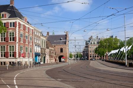 Buitenhof in the city centre of Hague (Den Haag) in Holland, Netherlands.