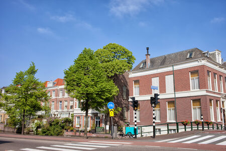 Houses along Mauritskade street in the city of Hague (Den Haag), South Holland, Netherlands. photo