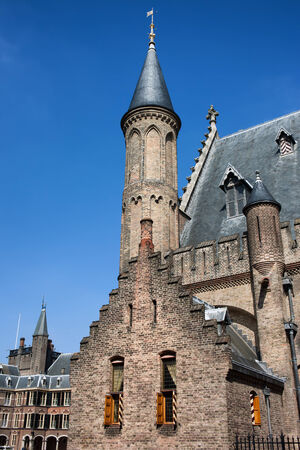 13th century: Gothic architecture of the 13th century Hall of Knights (Ridderzaal), main building of the Binnenhof in The Hague (Den Haag), Netherlands.