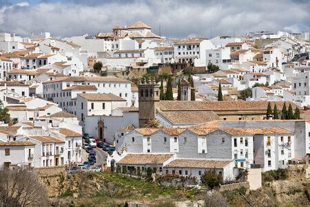 ronda: City of Ronda in Spain, Andalusia region. Stock Photo