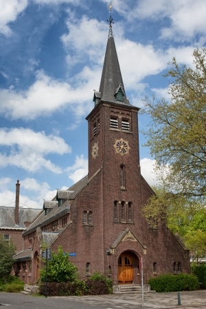 walloon: The Walloon Church (Dutch: Waalse Kerk) in the city centre of Rotterdam, Holland, the Netherlands. Stock Photo