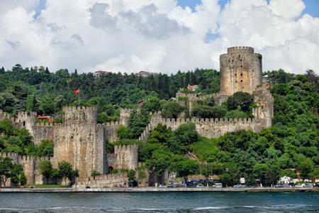 hisari: Rumeli Hisari (Castle of Europe) by the Bosphorus Strait in Istanbul, Turkey.