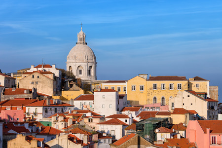 View over picturesque houses of the Alfama District in Lisbon, Portugal. photo