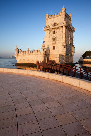 tagus: Belem Tower on the Tagus river in Lisbon, Portugal.