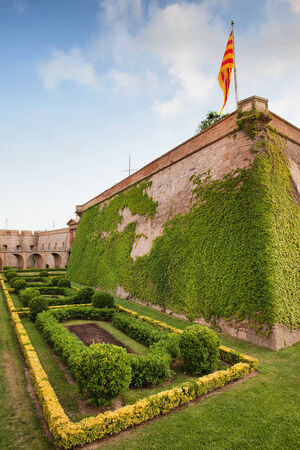 fortify: Montjuic Castle in Barcelona, Catalonia, Spain. Editorial