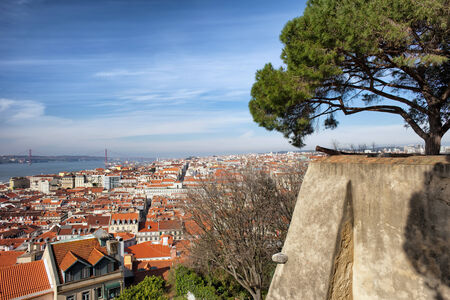 View over picturesque city of Lisbon in Portugal. photo