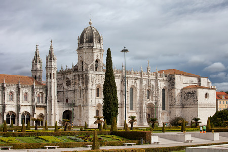 founded: Jeronimos Monastery in Lisbon, Portugal, famous landmark, founded in 1501.