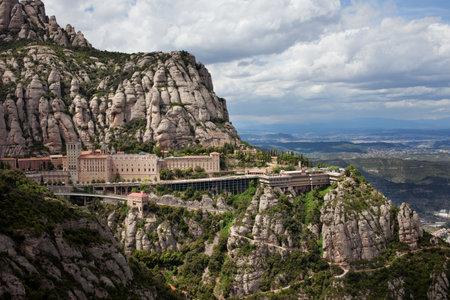 monastery nature: Montserrat monastery and mountain in Catalonia, Spain. Editorial