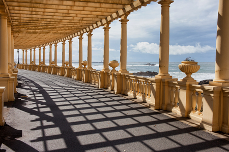 Pergola da Foz in Porto, promenade along the Atlantic Ocean coast in Portugal. photo