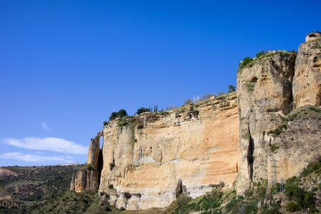 andalusia: Rock in Ronda, Andalusia region, Spain.