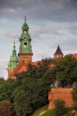 wawel: Poland, Krakow, Wawel Royal Castle, towers of the Wawel Cathedral.