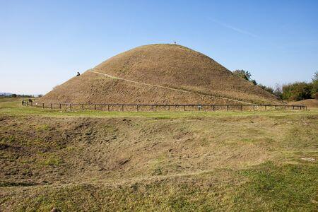 mounds: Mound of Krak or Krakus Mound (Polish: Kopiec Krakusa, Kraka), mysterious, prehistoric man-made hill in Krakow, Poland. Stock Photo