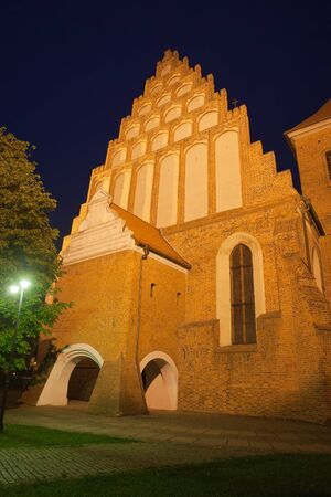religious building: St. Martin & Nicholas Cathedral in the city of Bydgoszcz in Poland, Gothic style dating back to 15th century.