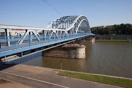 marshal: Krakow, Poland, Marshal Jozef Pilsudski Bridge over Vistula river