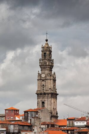 18th: Clerigos Church bell tower in Porto, Portugal, 18th century Baroque style architecture.