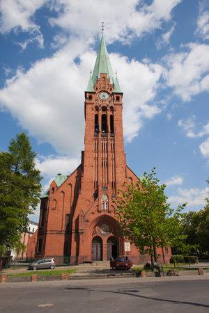 neo gothic: Church of St. Andrew Bobola (Kosciol Andrzeja Boboli) in Bydgoszcz, Poland, neo-Gothic architecture, built between 1900 and 1903. Editorial