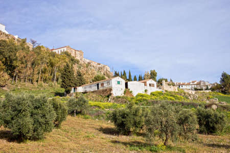 ronda: City of Ronda and Andalusia countryside, Spain, Malaga province. Stock Photo